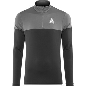 Odlo Core Light 1/2 Zip Midlayer Herren black-odlo graphite grey